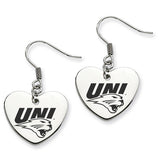 Northern Iowa Panthers Heart Drop Earrings