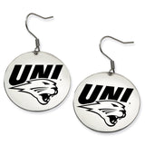 Northern Iowa Panthers Stainless Steel Disc Earrings