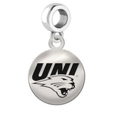 Northern Iowa Panthers Round Drop Charm