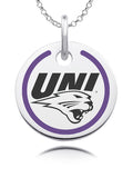 Northern Iowa Panthers Round Enamel Charm