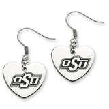 Oklahoma State Cowboys Heart Drop Earrings
