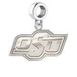 Oklahoma State Cowboys Natural Finish Logo Dangle Charm