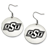 Oklahoma State Cowboys Stainless Steel Disc Earrings