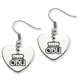 Old Dominion Monarchs Heart Drop Earrings