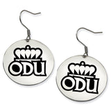 Old Dominion Monarchs Stainless Steel Disc Earrings