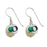 Oregon Ducks Color and Freshwater Pearl Earrings