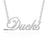Oregon Ducks Sterling Silver Cutout Script Necklace