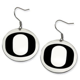 Oregon Ducks Stainless Steel Disc Earrings