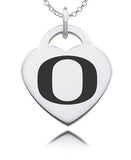 Oregon Ducks Sterling Silver Heart Charm