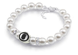 Oregon Ducks White Pearl Bracelet