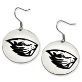 Oregon State Beavers Stainless Steel Disc Earrings