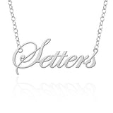 Pace Setter Sterling Silver Cutout Script Necklace