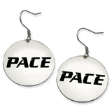Pace Setter Stainless Steel Disc Earrings