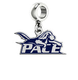 Pace Setter Silver Logo and School Color Drop Charm
