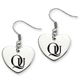 Quinnipiac Bobcats Heart Drop Earrings