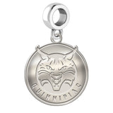 Quinnipiac Bobcats Natural Finish Logo Dangle Charm