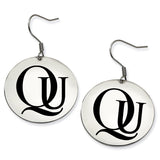 Quinnipiac Bobcats Stainless Steel Disc Earrings