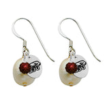 Saint Joseph's Hawks Color and Freshwater Pearl Earrings