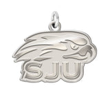 Saint Joseph's Hawks Sterling Silver Natural Finish Charm