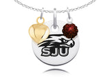 Saint Josephs Hawks Necklace with Charm Accents