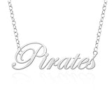 Seton Hall Pirates Sterling Silver Cutout Script Necklace
