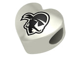 Seton Hall Pirates Heart Bead Fits European Style Bracelets