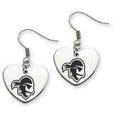 Seton Hall Pirates Heart Drop Earrings