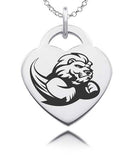 Slippery Rock Sterling Silver Heart Charm