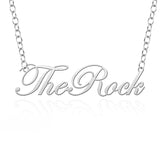 Slippery Rock The Rock Sterling Silver Cutout Script Necklace
