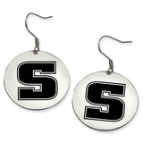 Slippery Rock The Rock Stainless Steel Disc Earrings