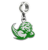 Slippery Rock The Rock Silver Logo and School Color Drop Charm