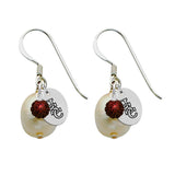 South Carolina Gamecocks Color and Freshwater Pearl Earrings