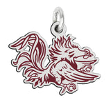 South Carolina Gamecocks School Color Logo Charm