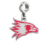 Southeast Missouri State Redhawks Silver Logo and School Color Drop Charm