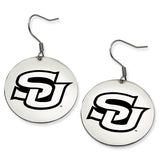Southern University Jaguars Stainless Steel Disc Earrings