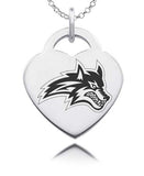 Stony Brook Seawolves Sterling Silver Heart Charm