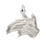 Stony Brook Seawolves Sterling Silver Natural Finish Charm