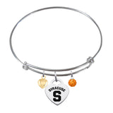 Syracuse Orange Sterling Silver Bangle Bracelet