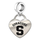 Syracuse Orange Heart Drop Charm
