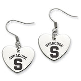 Syracuse Orange Heart Drop Earrings