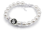 Syracuse Orange Pearl Bracelet