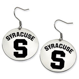 Syracuse Orange Stainless Steel Disc Earrings