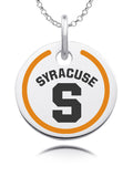Syracuse Orange Round Enamel Charm