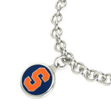 Syracuse Orange Silver Charm Bracelet