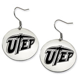 Texas El Paso Miners Stainless Steel Disc Earrings