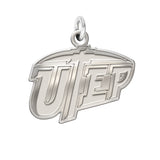 Texas El Paso Miners Sterling Silver Natural Finish Charm