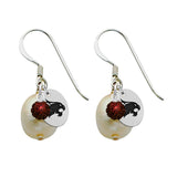 Texas State Bobcats Color and Freshwater Pearl Earrings