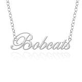 Texas State Bobcats Sterling Silver Cutout Script Necklace