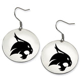 Texas State Bobcats Stainless Steel Disc Earrings