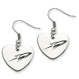 Toledo Rockets Heart Drop Earrings